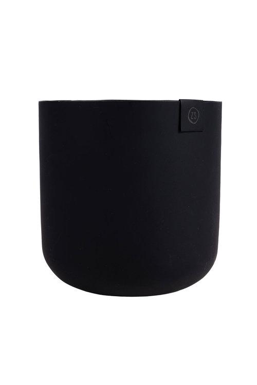 Zusss potje metaal 13 cm zwart