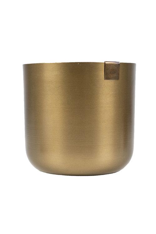 Zusss potje metaal 13 cm brons