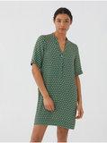 Tuniek jurk peace dot print