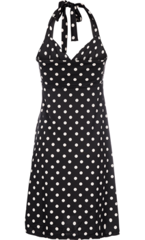 King Louie Neck Knot Dress Partypolka Black