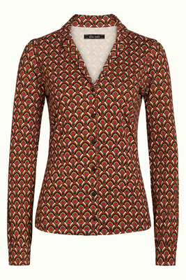 King Louie Patty Blouse Calypso Cherry Red