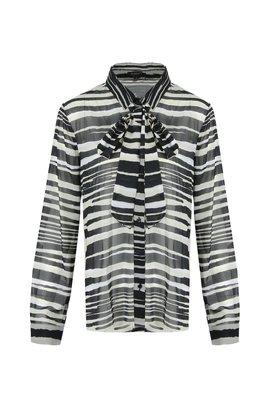 G-Maxx blouse black creme 19WFG67-01114