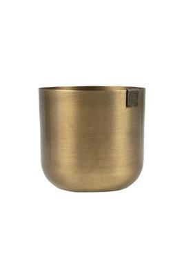 Zusss potje metaal 8 cm brons