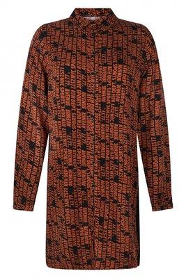 Zoso jurk Eefje black/burnt orange