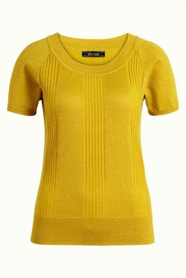 King Louie Boatneck top Lapis Mimosa yellow