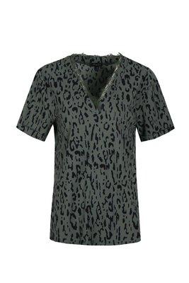 G-Maxx top khaki/black 20ZZG25-7801