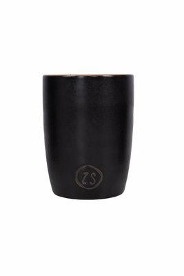 Zusss koffiemok zwart aardewerk
