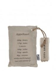 100% Leuk receptkussen Appeltaart
