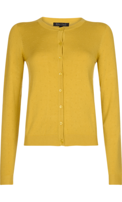 King Louie Cardi Roundneck Droplet Spring Yellow
