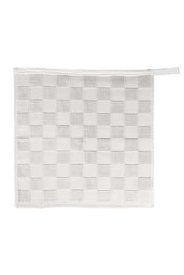 Zusss handdoek wit geblokt