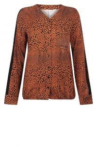 Zoso blouse Elin black/burnt orange