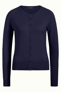 King Louie Cardi Roundneck Droplet blue