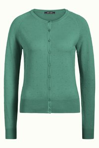 King Louie Cardi Roundneck Droplet spargreen