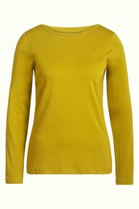 King Louie Milou top Cotton lycra curry yellow