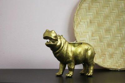 Kandelaar hippo goud