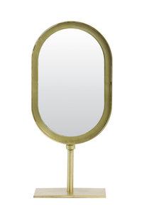 Spiegel oud brons op standaard