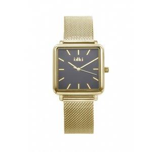Ikki horloge Tenzin gold/black TE03