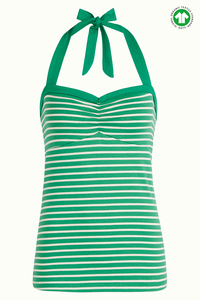 King Louie lucy top breton stripe green